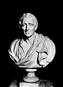 Portrait Sculpture Photograph Framed Prints - Baron De Montesquieu Framed Print by Granger