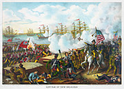 War Of 1812 Prints - Battle Of New Orleans Print by Granger