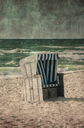 Sandy Beach Posters - Beach Chair Poster by Joana Kruse