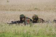 Component Photos - Belgian Paratroopers On Guard by Luc De Jaeger