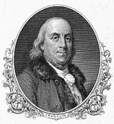 Diplomat Framed Prints - Benjamin Franklin (1706-1790) Framed Print by Granger