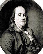 Political Illustration Framed Prints - Benjamin Franklin, American Polymath Framed Print by Science Source