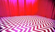Donna Hayward Painting Prints - Black Lodge Print by Luis Ludzska
