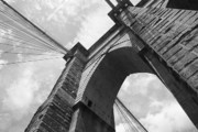 Murals Prints - Brooklyn Bridge - New York City Print by Frank Romeo