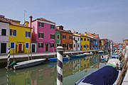Peaceful Scene Metal Prints - Burano - Venice - Italy Metal Print by Joana Kruse