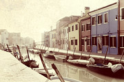 Boats In Water Prints - Burano Print by Joana Kruse