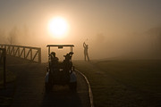 Golf Ball Posters - California Golf Course Sunrise Morning Golfers Poster by ELITE IMAGE photography By Chad McDermott