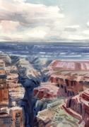 Rim Paintings - Canyon View by Donald Maier