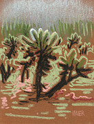 University Of Arizona Pastels - Cholla by Donald Maier