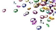 Expensive Jewelry Prints - Colorful Gems Print by Setsiri Silapasuwanchai
