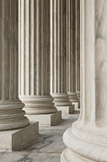 National Landmark Posters - Columns of the Supreme Court Poster by Roberto Westbrook