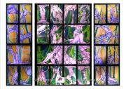 Forest Tapestries - Textiles Framed Prints - 6 Degrees of Separation Framed Print by Carol Rashawnna Williams