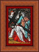 Painted Glass Art - Drumul Crucii - Stations Of The Cross  by Buclea Cristian Petru