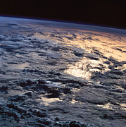 Earth Viewed From A Satellite Print by Stockbyte