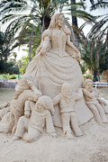 Dwarves Posters - Fairytale Sand Sculpture  Poster by Shay Velich
