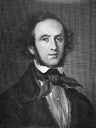 Sideburns Framed Prints - Felix Mendelssohn Framed Print by Granger