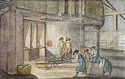 18th Century Photos - GLASSMAKING, 18th CENTURY by Granger