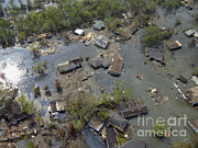 Flooding Posters - Hurricane Katrina Damage Poster by Science Source
