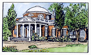 18th Century Prints - Jefferson: Monticello Print by Granger