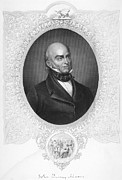 Lapel Framed Prints - John Quincy Adams Framed Print by Granger