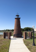 Lake Relections Prints - Lighthouse on Lake Toho at Kissimmee in Florida Print by Allan  Hughes