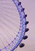 County Hall Prints - London Eye Print by David Pyatt