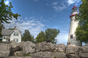 Ohio Prints - Marblehead Lighthouse Print by At Lands End Photography