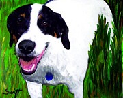Bull Terrier Art - Mixed Breed Dog by Char Swift