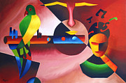 Musical Notes Painting Originals - Musician  by Sanjeev Babbar