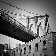 Brooklyn Bridge Posters - NYC Brooklyn Bridge Poster by Nina Papiorek