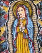 Folk Arts Posters - Our Lady of Guadalupe Poster by Rain Ririn