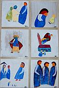 Johan Wahlstrom - 6 Paintings on wood