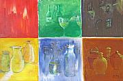 Wine Canvas Paintings - 6 Panes of Existence by Gary Smith