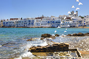 Fishing Village Framed Prints - Paros - Cyclades - Greece Framed Print by Joana Kruse