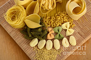 Spaghetti Noodles Photo Prints - Pasta Print by Photo Researchers, Inc.