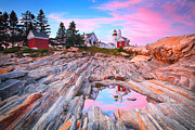 Bar Harbor Acrylic Prints - Pemaquid Lighthouse Acrylic Print by Emmanuel Panagiotakis