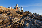 Maine Lighthouses Framed Prints - Pemaquid Point Lighthouse Framed Print by John Greim