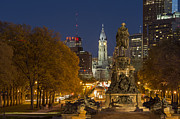 William Penn Photos - Philadelphia Skyline by John Greim