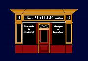 Oils Digital Art Originals - 6 place de la Madeleine a Parisian Shop by Asbjorn Lonvig