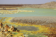 Craters Prints - Potassium Salt Deposits, Dallol Print by Richard Roscoe