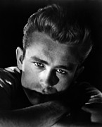 1950s Portrait Posters - Rebel Without A Cause, James Dean, 1955 Poster by Everett