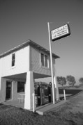 Gravel Road Prints - Route 66 - Lucilles Gas Station Print by Frank Romeo