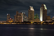 Coronado Framed Prints - San Diego Skyline  Framed Print by Timothy Johnson