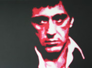 Al Pacino Paintings - Scarface by Luis Ludzska