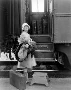 Depart Photos - Silent Film Still: Trains by Granger