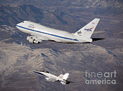 Fa-18 Posters - Sofia Flying Observatory Poster by NASA/Science Source