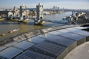 City Hall Prints - Solar Panels On City Hall, London, Uk Print by Paul Rapson