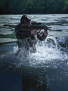 Firearms Photo Posters - Special Operations Forces Soldier Poster by Tom Weber