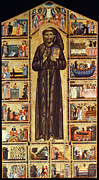Medieval Paintings - St Francis Of Assisi by Granger