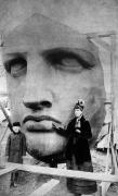 Woman Head Sculpture Prints - Statue Of Liberty, 1885 Print by Granger